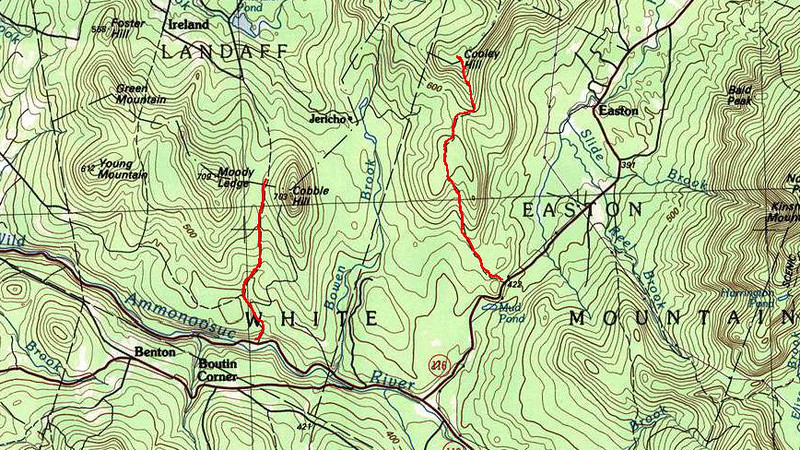 Overview of the two hikes.