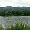 Looking south to the North Presidentials, over Durand Lake.